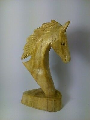 Hand Carved -Wooden - Horse Head - Sculpture