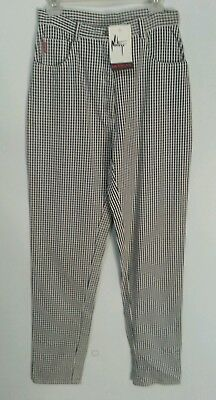 Montego Designs Nwt 10 Vintage Extra High Waisted Check Cotton Jeans Australian