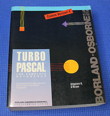 TURBO PASCAL The Complete Reference (Covers Version 4) Programming Series Book