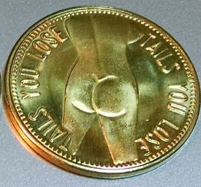 Heads I Win - Tails You Lose - Novelty Adult Art-Coin - Free Shipping Now!
