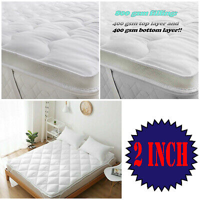 4 inch Deep Mattress topper Luxury Comfy Microfiber Soft Warm Hotel Home bed 4""