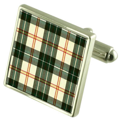 Select Gifts Tartan Canada Newfoundland and Labrador Cufflinks in Engraved Personalised Case