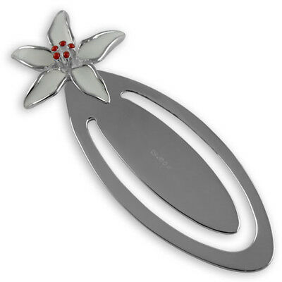 Sterling Silver Enamel Lily Bookmark