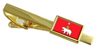 Leather Keyring Engraved Tomsk City Russia Flag