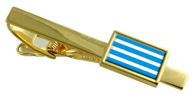 Most City Czech Republic Flag Gold Tie Clip Engraved Personalised