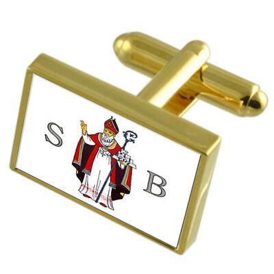 Sisak City Croatia Gold-tone Flag Cufflinks