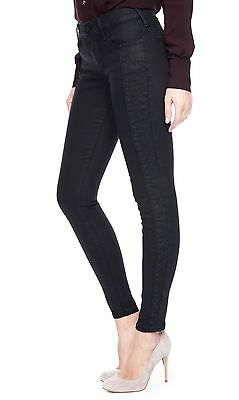 True Religion Halle Mid Rise Super Skinny Jeans Pants Coated Night 24 Nwt $268