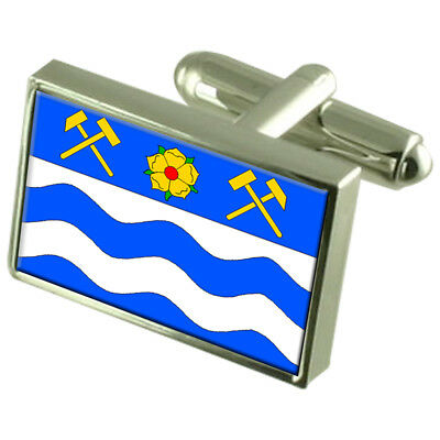 Havirov City Czech Republic Sterling Silver Flag Cufflinks Engraved Box