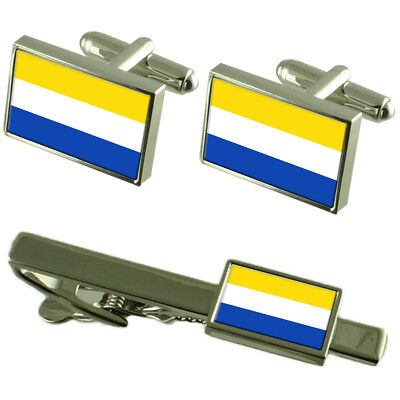 Marianske Lazne City Czech Republic Flag Cufflinks Tie Clip Box Gift Set