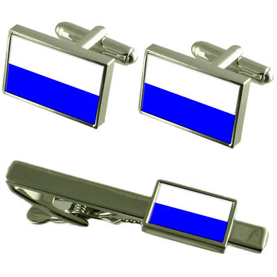 Mlada Boleslav City Czech Republic Flag Cufflinks Tie Clip Box Gift Set