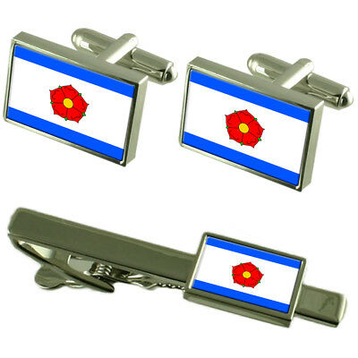 Cesky Krumlov City Czech Republic Flag Cufflinks Tie Clip Box Gift Set
