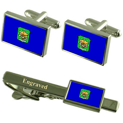 Ramat Hasharon City Israel Flag Tie Clip Engraved in Pouch