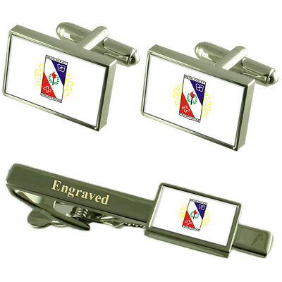 Select Gifts Governador Valadares City Minas Gerais State Flag Tie Clip Engraved in Pouch