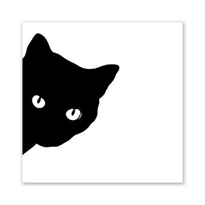 Black Cat Modern Art Oil Painting Canvas Print Wall Picture Home Decor Unframed