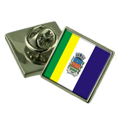 Select Gifts Silva Jardim City Rio de Janeiro State Sterling Silver Flag Cufflinks Engraved Box