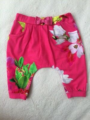 New Ted Baker Baby Girls Pink Harem Trousers Size 0-3 Months