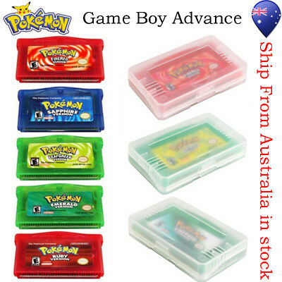 5 Versions Game Card for Pokemon GBA/GBM/SP/NDS Kids GiftsCollection Game Boy AU