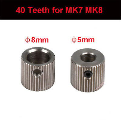 5Pcs 40Teeth Bore 5/8mm Extruder Wheel Hobbed Drive Gear for MK7 MK8 3D Printer