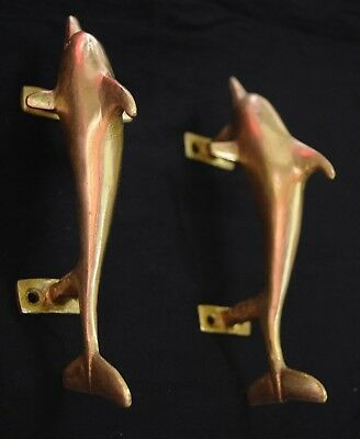 Golden Brass Door Handle Whale Designed Door Pulls Sea Dolphin Knobs Stem BM-544