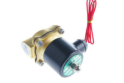 """1Pcs Valve Water Air Gas 2position 2way N/C Electric Solenoid 1/2""""BSP AC220V"""