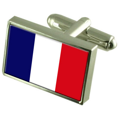 Martinique Sterling Silver Flag Cufflinks