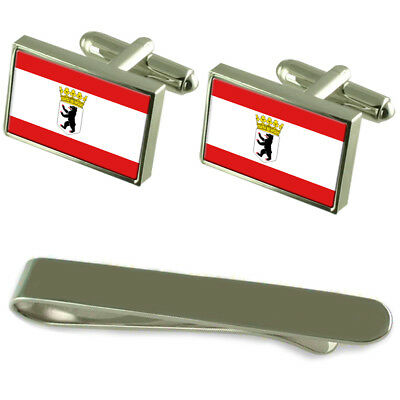Select Gifts Free State of Thuringia Flag Cufflinks Tie Clip Matching Box Gift Set