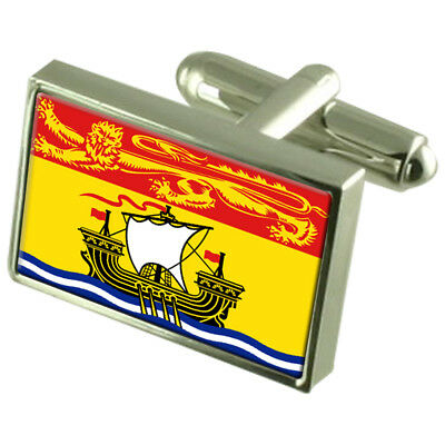 New Brunswick Tie Clip Bar with Engraved Personalised Message Box Tie Clips Cufflinks & Shirt Accessories