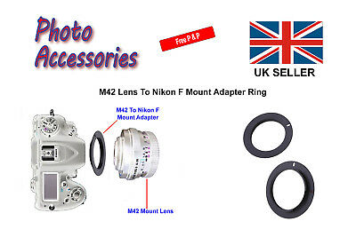 Adapter Ring M42 Lens To Nikon AI F Mount Film (SLR) And Digital (DSLR) Cameras