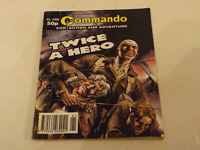 COMMANDO WAR COMIC NUMBER 2909,1995 ISSUE,GOOD FOR AGE,22 years old,VERY RARE.