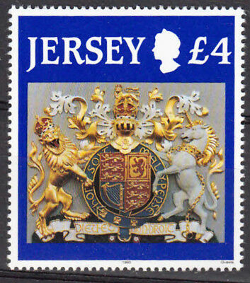 Jersey 1995 £4 Arms of King George VI SG491c Definitive High Value, UNM / MNH