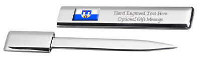 Chomutov City Czech Republic Flag Post Mail Letter Opener Engraved