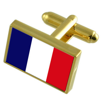 Martinique Gold-Tone Country Flag Cufflinks Select Gift Pouch