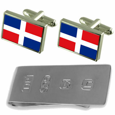 Dominican Republic Flag Cufflinks & James Bond Money Clip