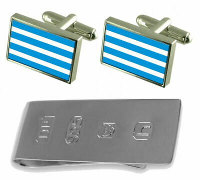 Most City Czech Republic Flag Cufflinks & James Bond Money Clip