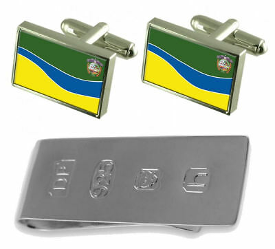 Puyo City Ecuador Flag Cufflinks & James Bond Money Clip