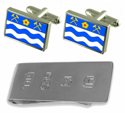 Havirov City Czech Republic Flag Cufflinks & James Bond Money Clip