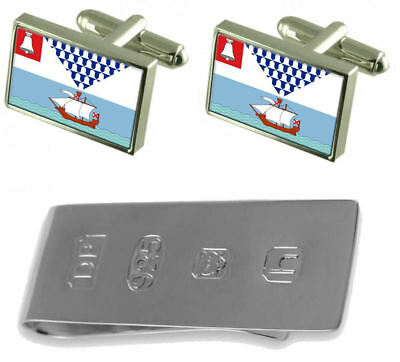 Belfast City Flag Cufflinks & James Bond Money Clip