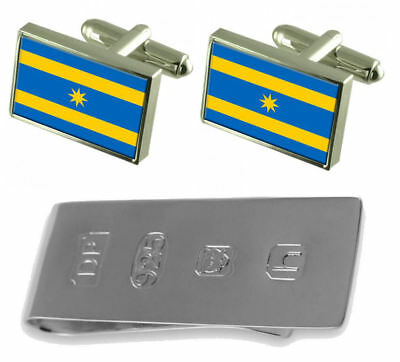 Zlin City Czech Republic Flag Cufflinks & James Bond Money Clip