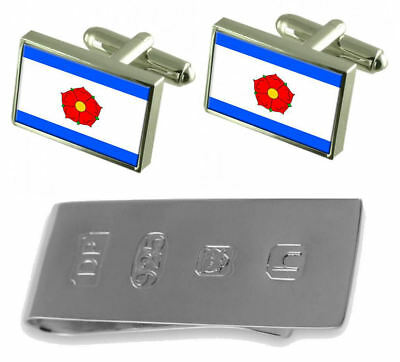 Cesky Krumlov City Czech Republic Flag Cufflinks & James Bond Money Clip