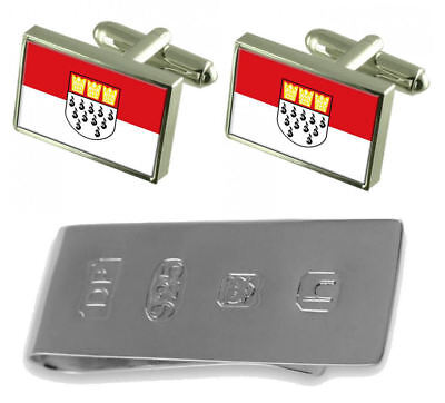Cologne City Germany Flag Cufflinks & James Bond Money Clip