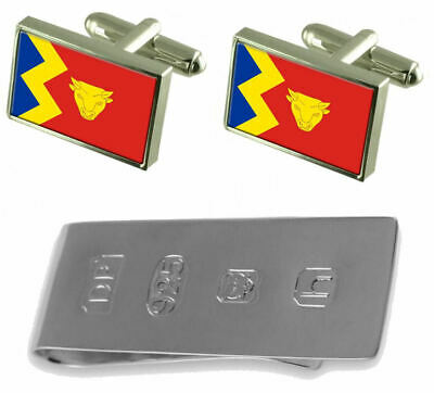 Birmingham City Flag Cufflinks & James Bond Money Clip
