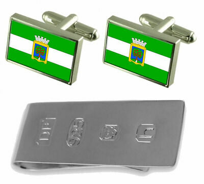 Jablonec Nad Nisou City Czech Republic Flag Cufflinks & James Bond Money Clip