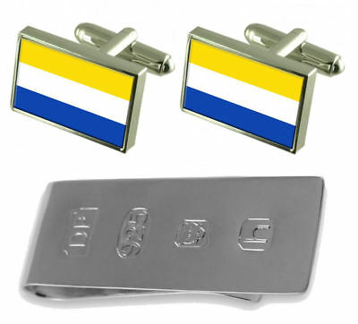 Marianske Lazne City Czech Republic Flag Cufflinks & James Bond Money Clip