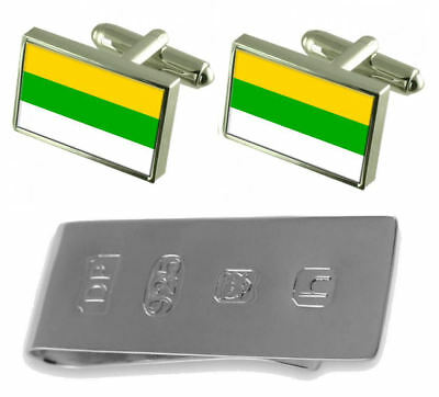 Frantiskovy Lazne City Czech Republic Flag Cufflinks & James Bond Money Clip