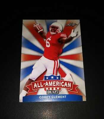 Corey Clement Eagles RC Rookie All American Leaf Draft 2017 Card NFL Football