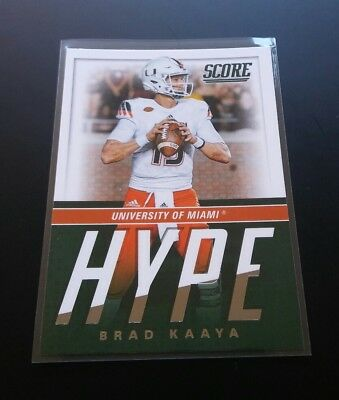 Brad Kaaya Panthers RC Rookie Hype #15 Panini Score 2017 NFL Football Card