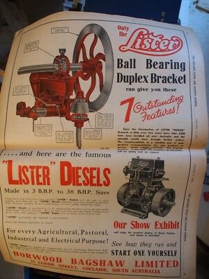 The Adelaide Stock and Station Journal Sept 1936. Tractor,Commer ad, Ephemera .