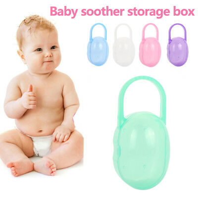 PU 5 Colors Baby'S Pacifier Box Lovely Portable Creative Gifts