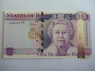 Jersey - Queen's Diamond Jubilee 100 pound note UNC in a presentation Wallet