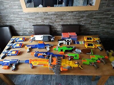 nerf guns bundle x 12 plus 3 gun shots
